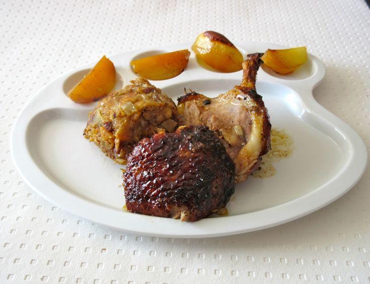 Canette farcie aux fruits secs et marrons : Diet & Délices - Recettes dietétiques