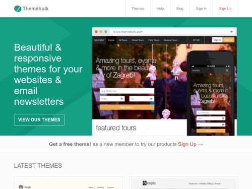 Themebulk: Responsive templates for websites and emails