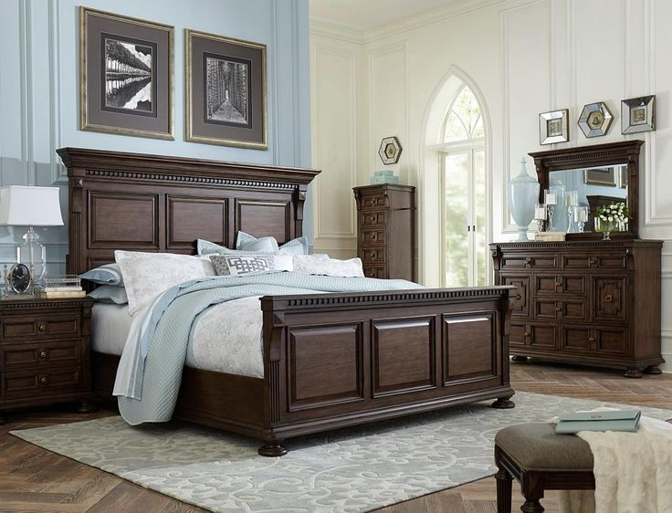 lux dark wood broyhill bedroom furniture