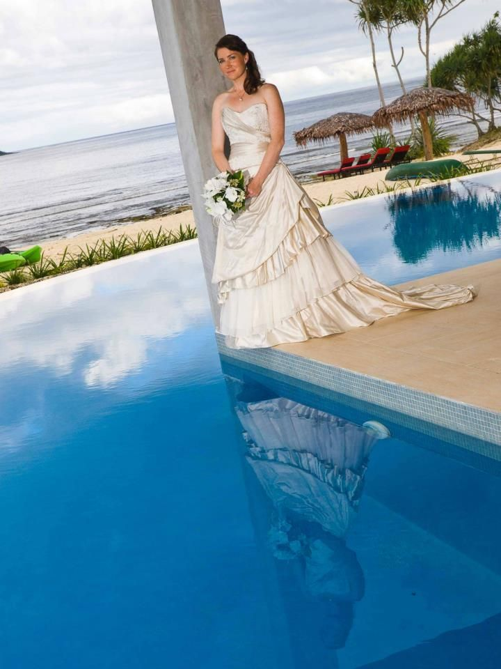 Tie the knot poolside at Nasama Resort Vanuatu (they also have a gorgeous sandy beach!)