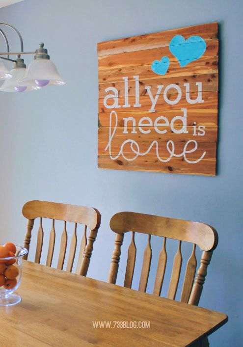 All You Need Is Love... a Cedar Plank Sign - seven thirty three