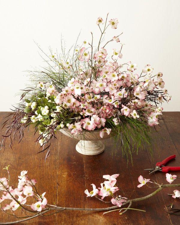 Delightful dogwood diy naked bouquet natural