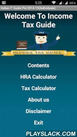 Indian Income Tax Guide  Android App - playslack.com , Every salaried person is entitled to pay the Income Tax to the government of India. Income tax is based on different income sources and also has different sections for investments.This application helps the tax payers to understand different sections of the Income tax act. This application is a basic reference about the sections of the Income tax. It provides information about various types of investments under each section and also the…