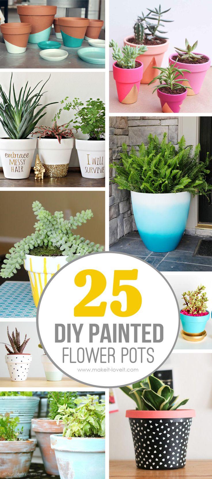 25 Design Ideas to Paint Terracotta Flower Pots Bloggers