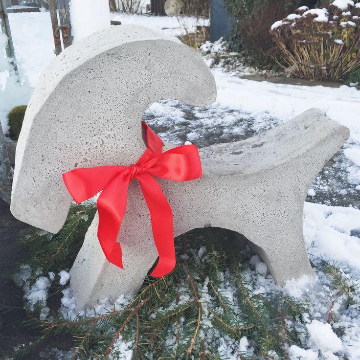 Julbock i betong | Emma