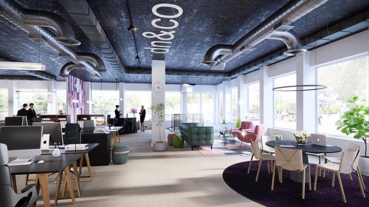 DN, Office Stockholm, PS,  Interior design, Scandinavian design, 3D visualisation, render, archive, PS, 3Ds Max, modern design, styling