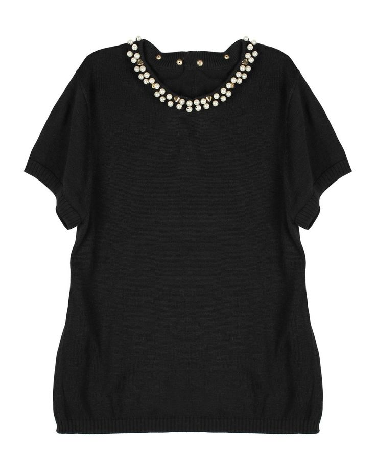 Arletta Top in Black by Kate Sylvester, black knit top