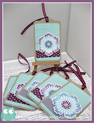 Stampin' Up! Tags made at my recent all day class