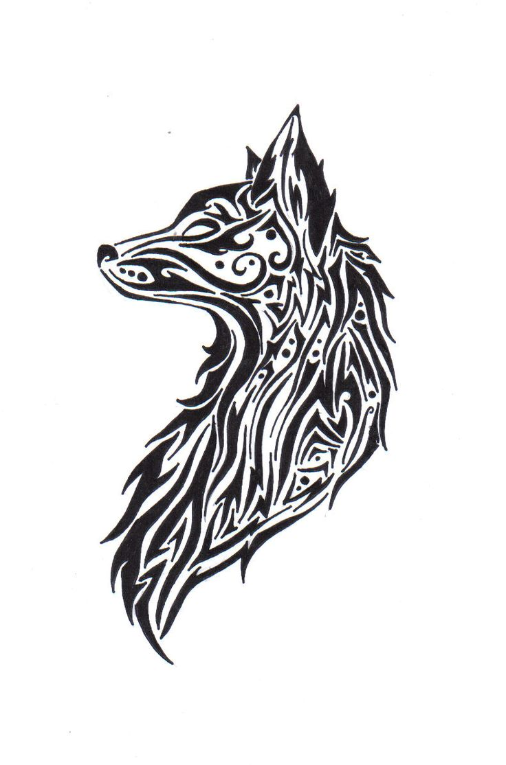blue nile diamonds by the yard Tribal Wolf Drawing