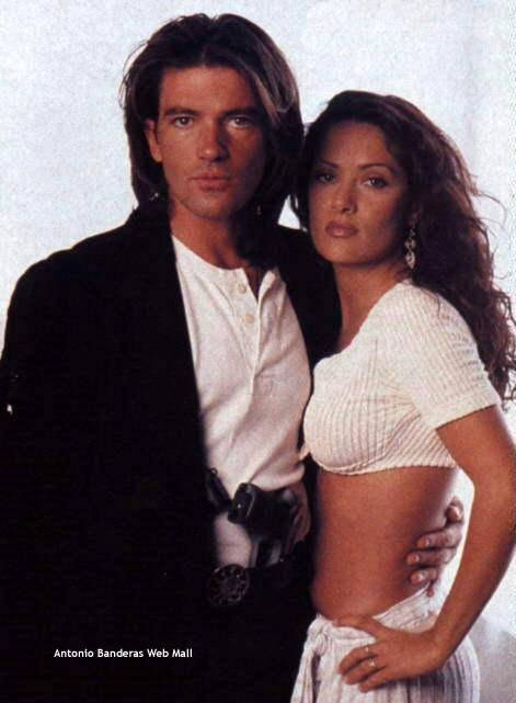 """Behold: Salma Hayek and Antonio Banderas  in """"Desperado"""" -  Together, these two made for  one of the most crazy-sexy-beautiful couplings in film history, IMHO.  L. M. Ross"""