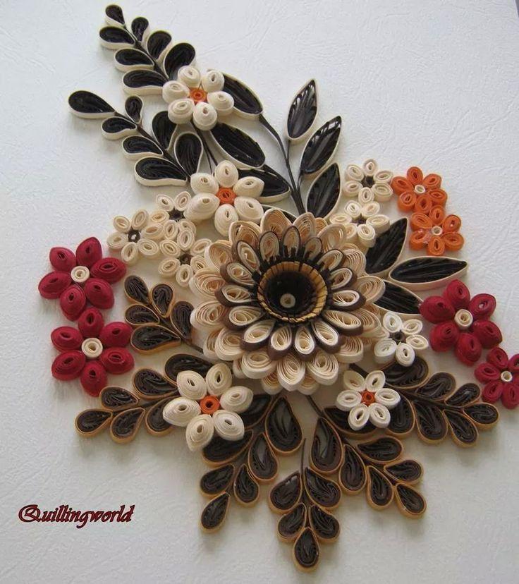Paper Quilling Flower Frames