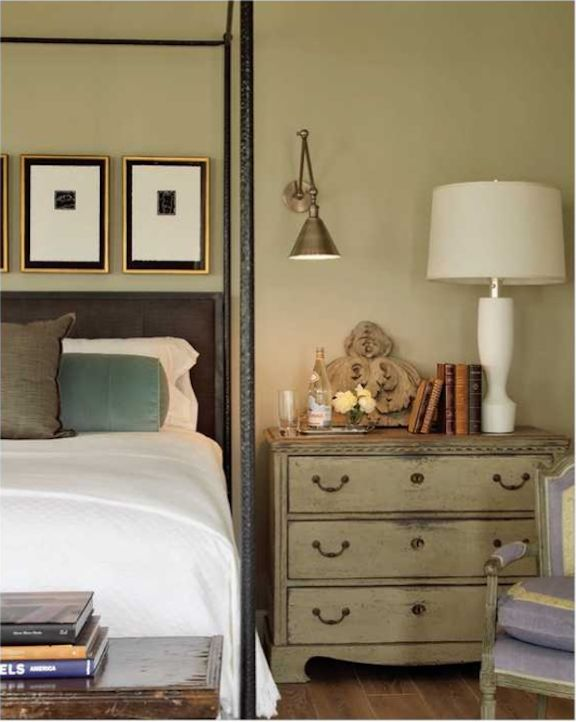 Love the finish on bedside table
