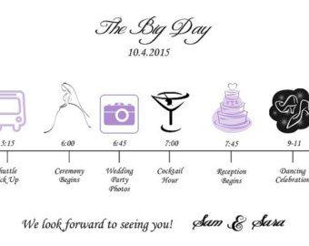 Cronología de boda para imprimir bricolaje por GraceWarrenDesigns
