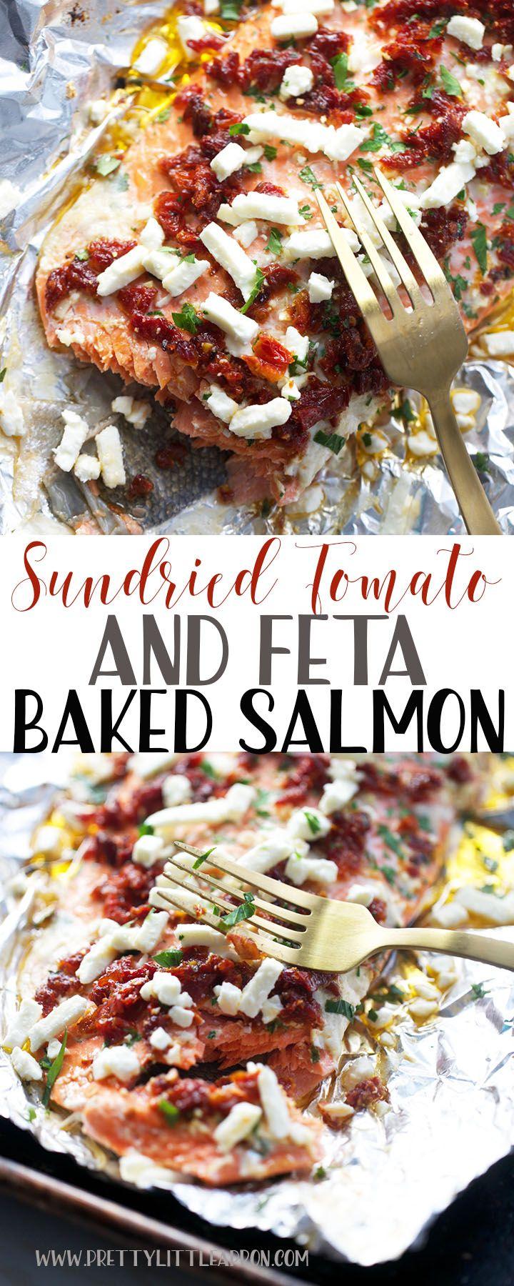 Sundried Tomato Feta Baked Salmon