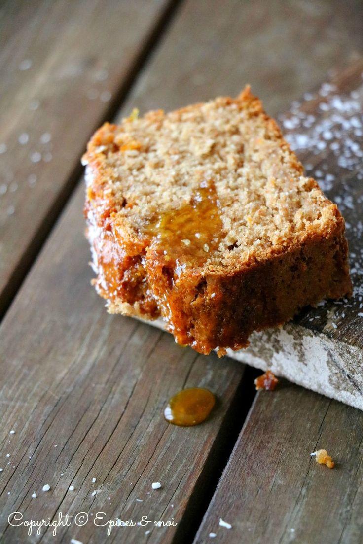 Cake à l'orange, coco et gingembre { Epices & moi }