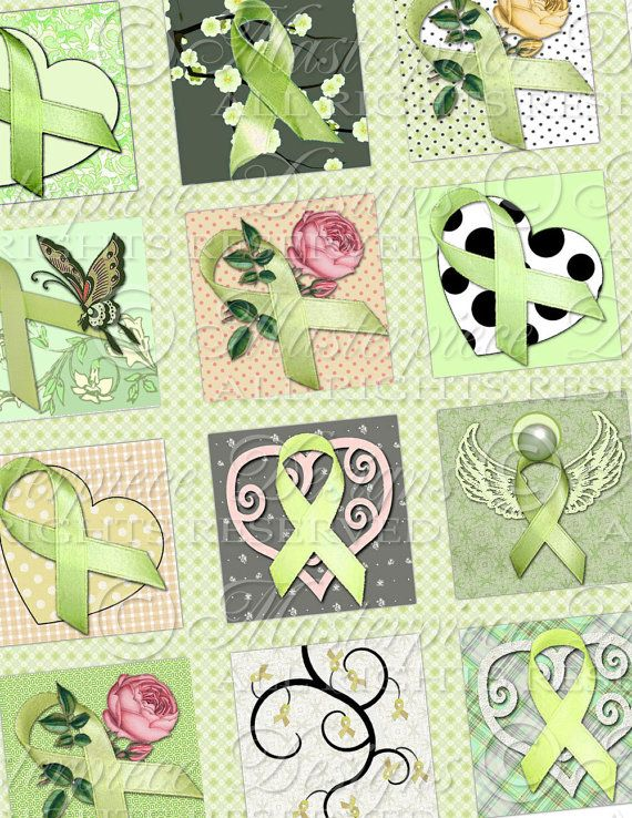 Lyme Disease Awareness Ribbons / Lime Green by MasterpieceDesigns