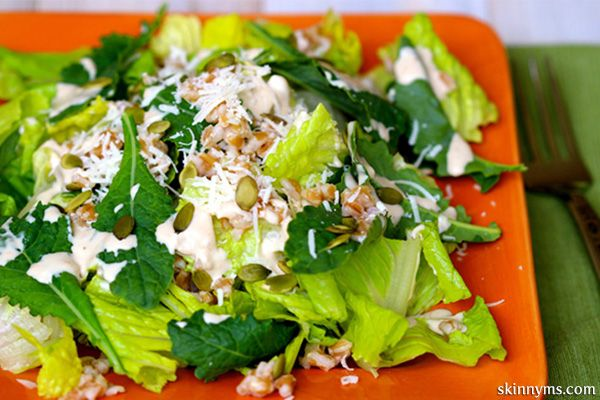 ... breathing in the fresh Mediterranean air, with this Kale Caesar Salad