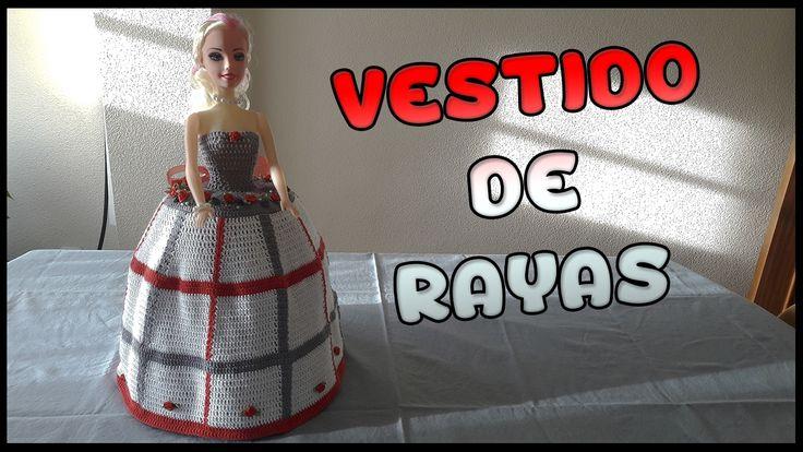 Vestido de Rayas a crochet para Muñeca