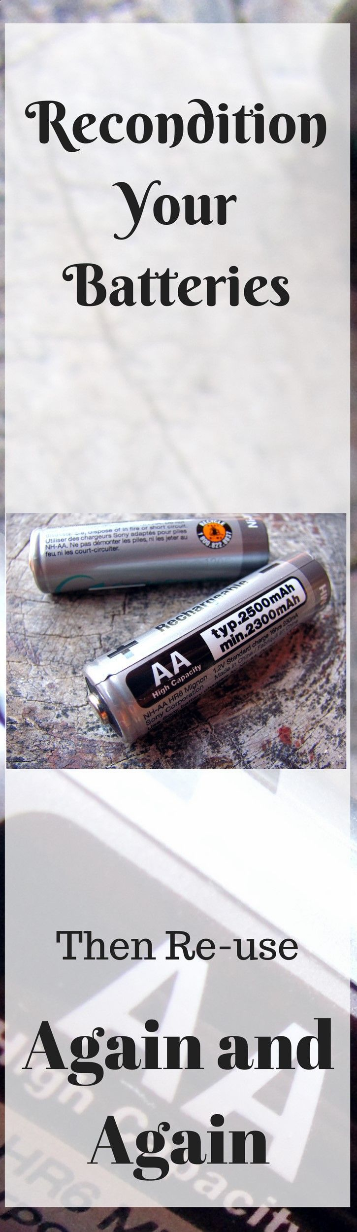 Battery Reconditioning - You dont have to buy new batteries. Recondition your old ones and use them again and again. - Save Money And NEVER Buy A New Battery Again #OldBatteriesPictures
