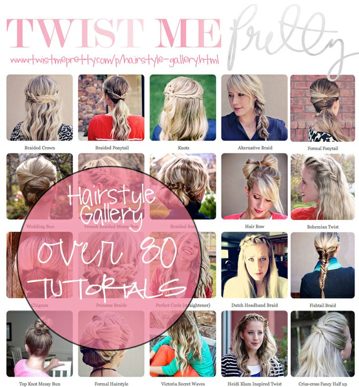 Hairstyle Gallery.  Over 80 hairstyle tutorials in one place.  Ahhhhh!!!