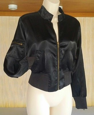 Piper & Blue Women's Junior Jacket Black Size Large Short Waist Crop Zip Up