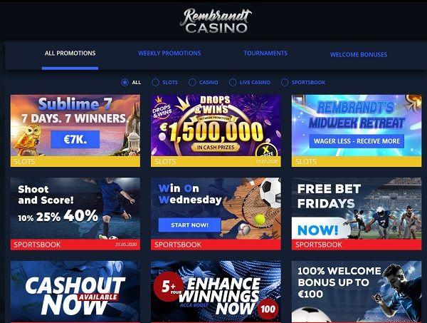 Rembrandt Casino 10 Free Spins No Deposit Bonus Exclusive Casino Best Casino Online Casino