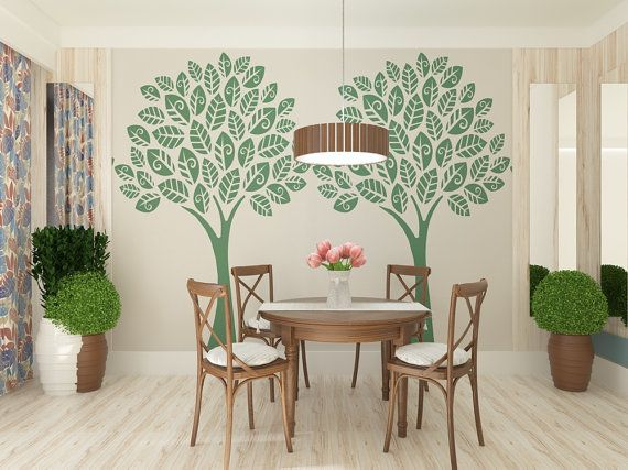 Tree Wall Stencil  Large Tree Reusable Wall by StencilsLabNY