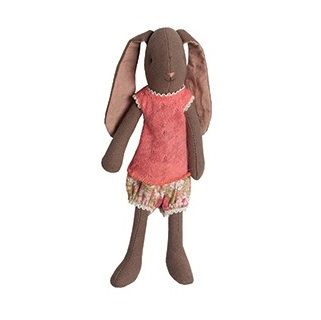Maileg Mini Bunny Chocolate The gorgeous Mini Bunny is a gorgeous addition for your Maileg collection.   Includes the printed under garments with extra outfits available to purchase seperately $36.95 #easter #bunny #gift