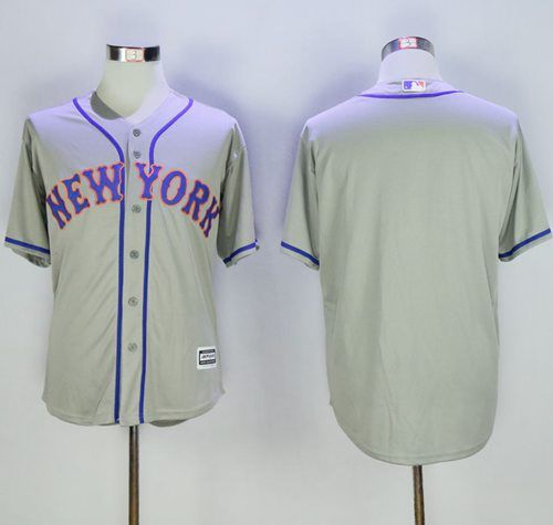 mets blank grey new cool base stitched mlb jersey