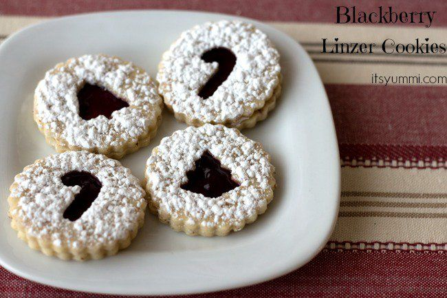 No holiday cookie platter is complete without this blackberry linzer cookies recipe. Blackberry preserves are sandwiched between layers of almond shortbread