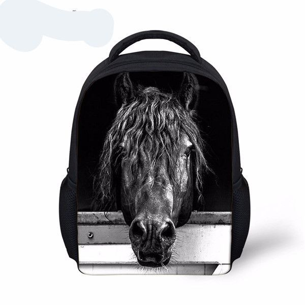 Beautiful Small Top Quality 3D Animal Print Crazy Horse Backpack 18 Styles