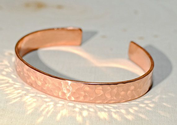 Hammered Copper Cuff Bracelet  BR672 by NiciLaskin on Etsy