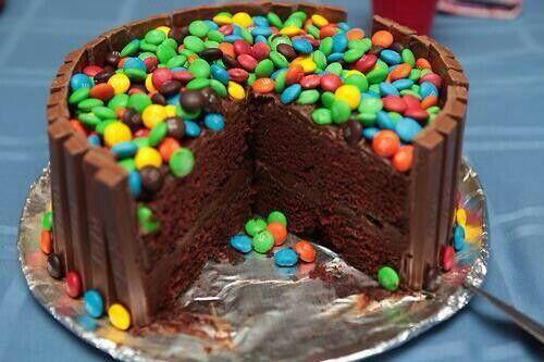 Tarta de chocolate y lacacitos