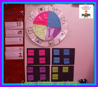 A teacher and student friendly center managment system!  Smedley's Smorgasboard of Kindergarten: A Kindergarten Smorgasboard Center Rotation System