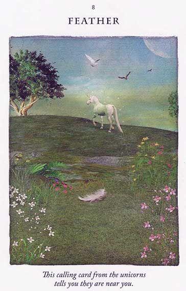 """Feather"" – Unicorn Card – Diana Cooper"
