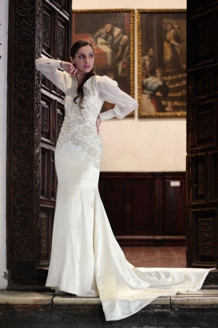 vestido de novia sirena encaje