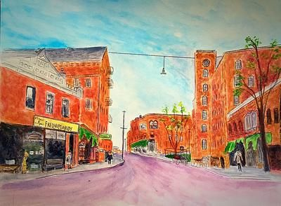 Downtown Amesbury: Downtown Amesbury was created because I love my hometown and the town buildings have not really changed that much over the past eighty years.  I used an