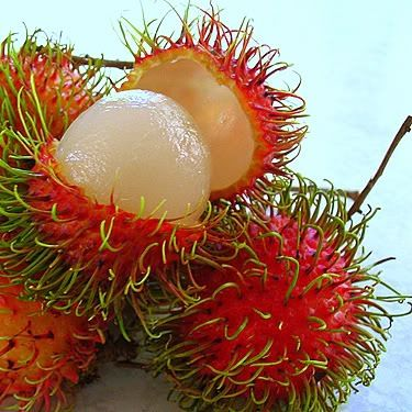 Rambutan- Exotic fruit. Soooo delicious!
