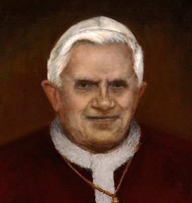 Close-up of portrait of Pope Benedict XVI
