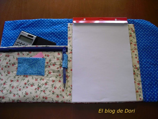 El blog de Dori: Tutorial funda bloc