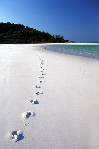Whitehaven Beach, Australia. The sand is so soft it squeaks under your feet as if walking on flour. Only beach I never minded laying right on the sand.