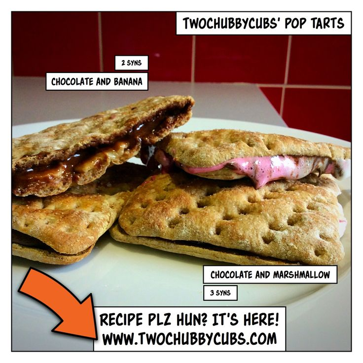 These Slimming World friendly 'pop tarts' make an ideal quick fix if you're wanting something naughty and the other half is out. Easy to make! Remember, at www.twochubbycubs.com we post a new Slimming World recipe nearly every day. Our aim is good food, low in syns and served with enough laughs to make this dieting business worthwhile. Please share our recipes far and wide! We've also got a facebook group at www.facebook.com/twochubbycubs - enjoy!