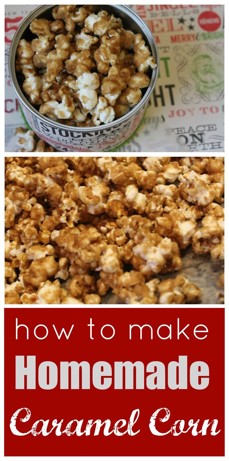 How to Make Homemade Caramel Corn for Christmas! Perfect Christmas Food Gift Recipe!