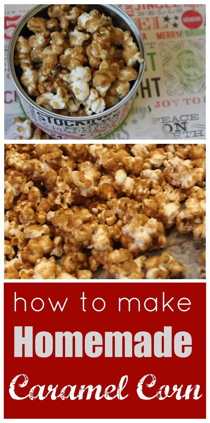How to Make Homemade Caramel Corn for Christmas! Perfect Christmas Food Gift Recipe!