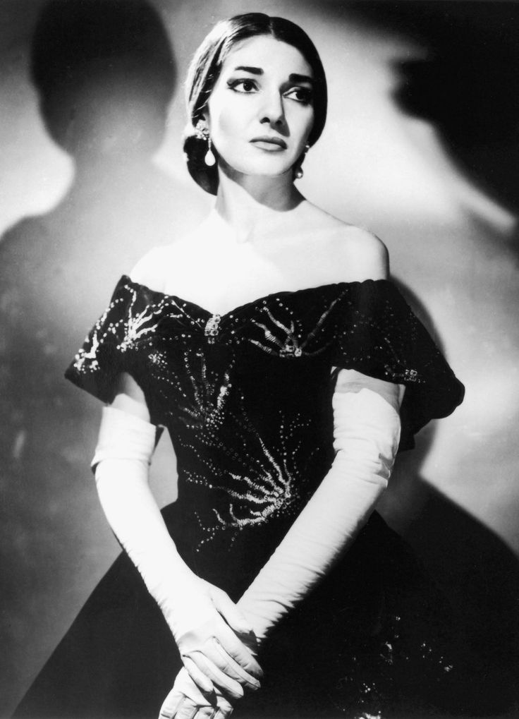 Maria Callas (1923-1977)  Read her biography and it was fascinating… So tortured but one of the greatest Opera singers ever.
