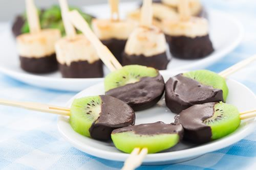 chocolate covered fruit-pops