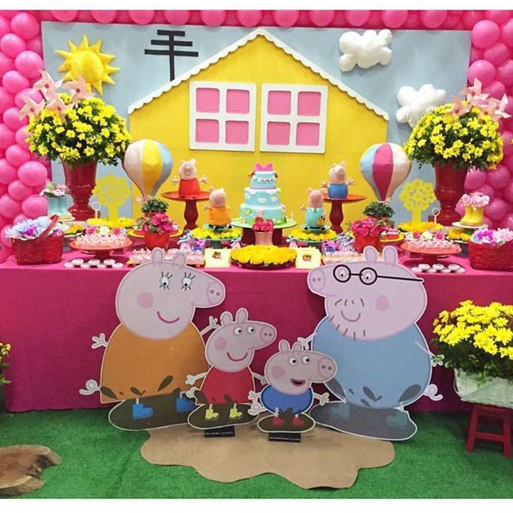 """Festa Peppa Pig  #mae_festeira #maefesteirapeppa #peppapig #festapeppapig  Imagem @criativita"""