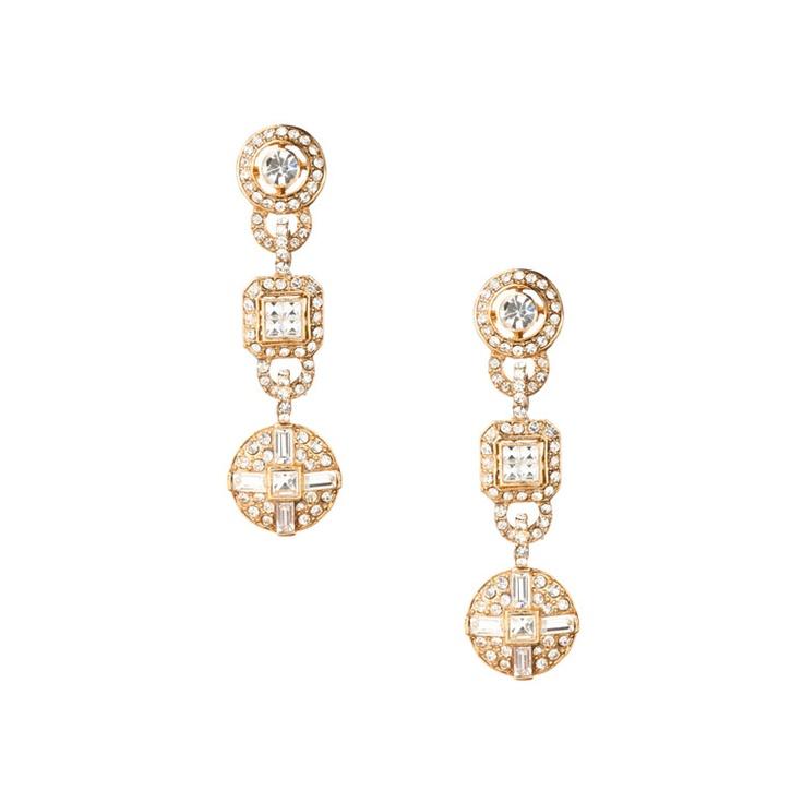 The Vanessa Deco Double Drop Pierced Earrings  @Amy Covert