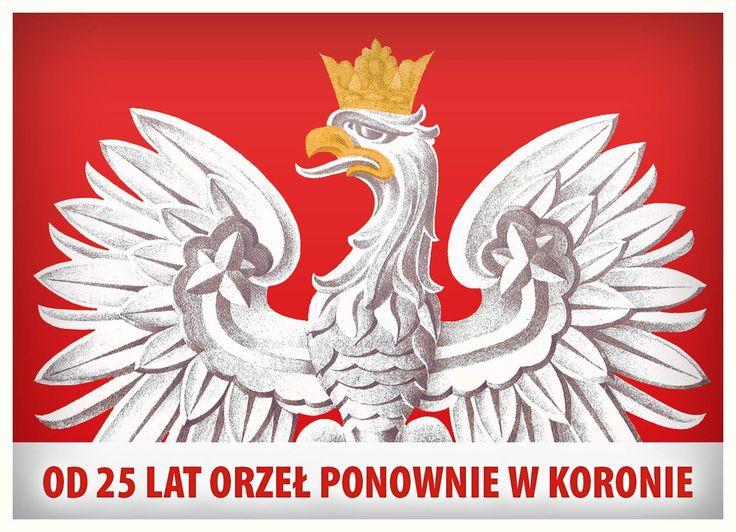 Od 25 lat orzeł ponownie w koronie   W 1990 roku, na podstawie ustawy sejmowej wprowadzono nowy wzór godła Rzeczpospolitej Polskiej. Był to symboliczny akt powrotu do tradycji przedwojennej. Współczesny orzeł państwowy jest wzorowany na godle II Rzeczpospolitej przyjętym ustawą z 1927 r. źródło: Ministerstwo Obrony Narodowej
