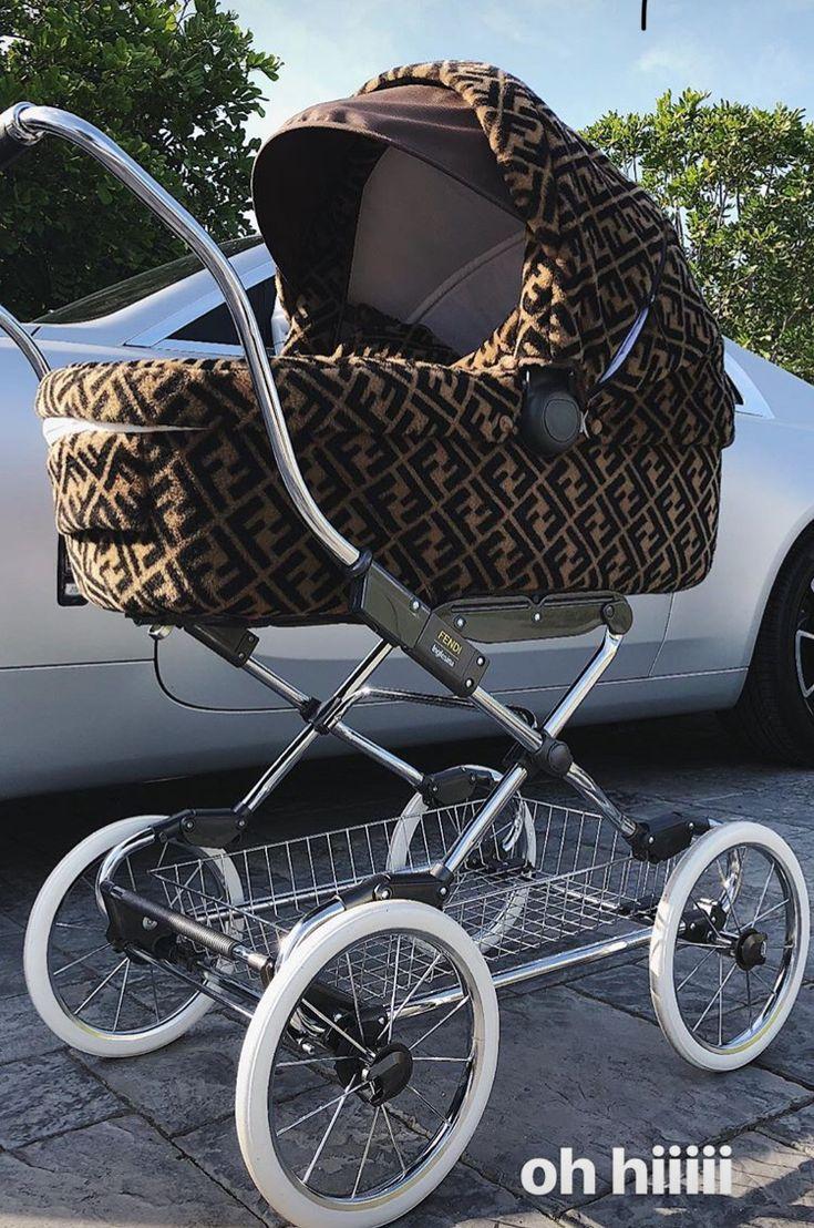 Kylie Jenner Fendi stroller Baby strollers, Kylie jenner